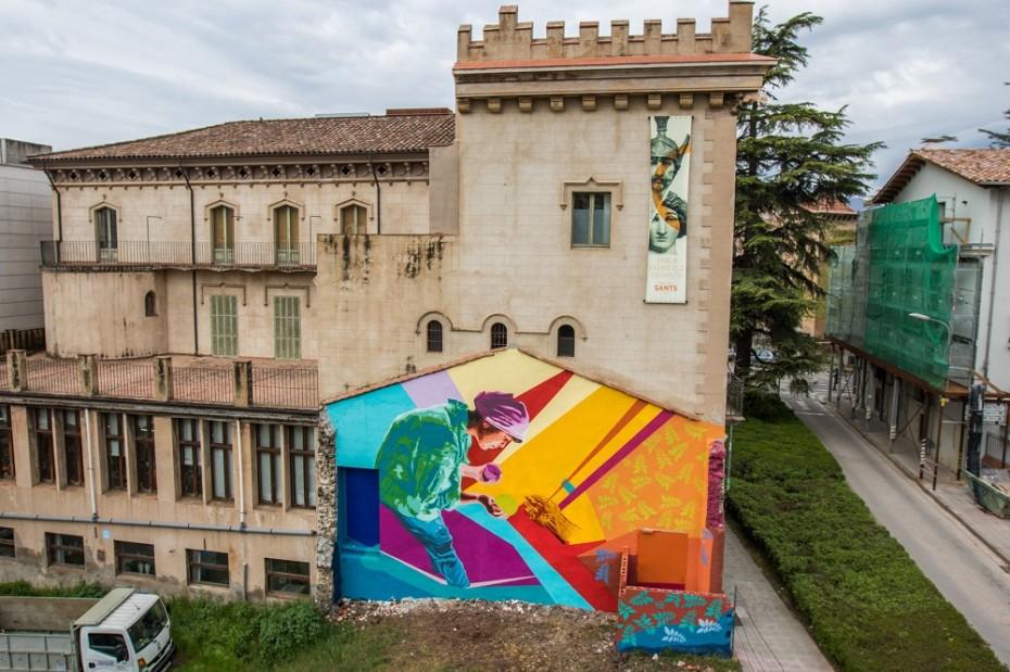 Mural de Btoy a Olot. Foto de Marc Planagumà