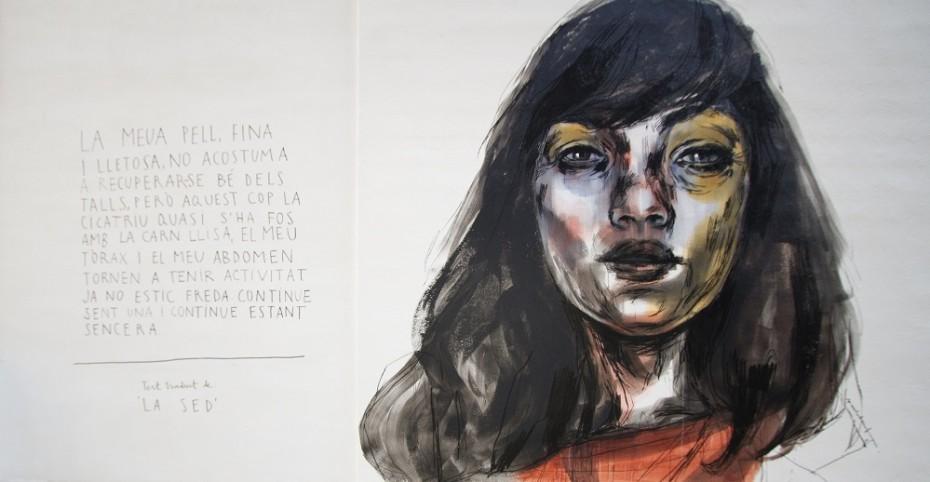 Mural de Paula Bonet a Figueres. Foto de J. Samsó i L. Torner