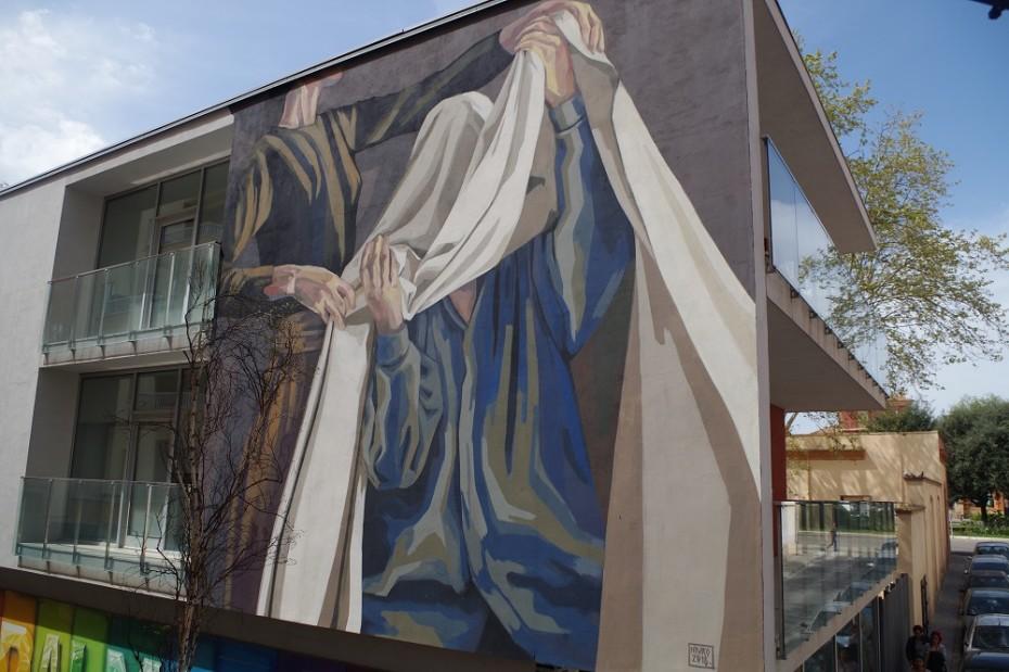 Mural de Hyuro a Reus. Foto d'Eduardo Porras