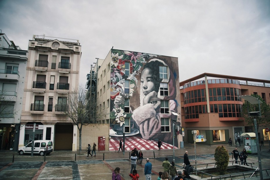 Mural de Lula Goce a Vilanova i la Geltrú. Foto de Crispetes Pictures