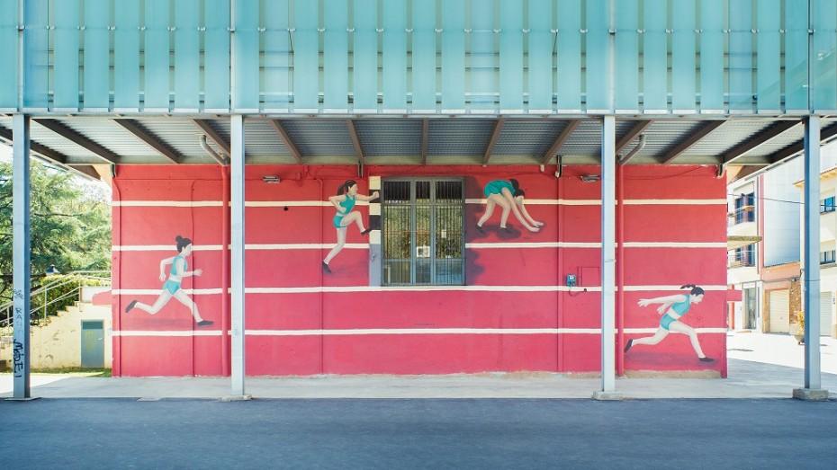 Mural de Minuskula a Sant Cugat del Vallès. Foto de Marc Quevy